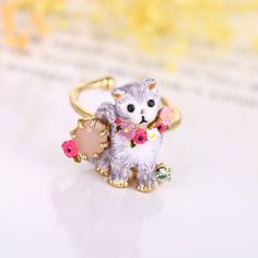 French famous brand jewelry LES curious cat rings for women,gold animal rings jewelry,adjustable toe ring Engagement Jewelry, Wedding Engagement, Cat Jewelry, Jewelry Rings, Cat Ring, Animal Rings, Curious Cat, Toe Rings, Famous Brands