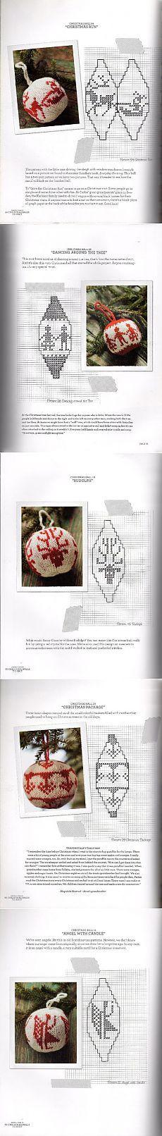 Вязаные шарики на ёлку - по ссылке больше схем!