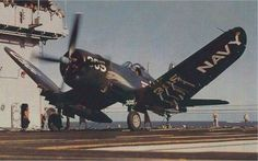 Corsair on a Aircraft Carrier