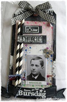 papirdesign-blogg Atc Cards, Fathers Day Cards, Masculine Cards, Pinwheels, Bookmarks, Straws, Frame, Shabby Chic, Boxes