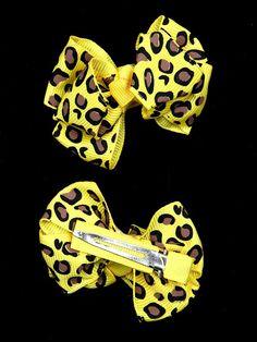 AH0051 Fashion assorted bow leopard print barrette hair clip