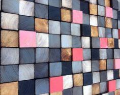Escultura de madera reciclada arte de pared de por WallWooden