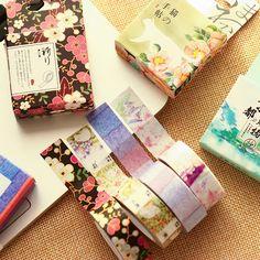 Japanese School Supplies, Cute School Supplies, Office And School Supplies, School Office, Duct Tape Crafts, Washi Tape Diy, Masking Tape, Scrapbook Stickers, Diy Scrapbook