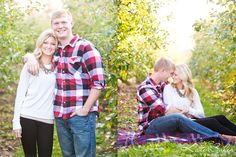 Perfect couple in a romantic orchard engagement session by Kate Saler Photography www.katesalerphotography.com