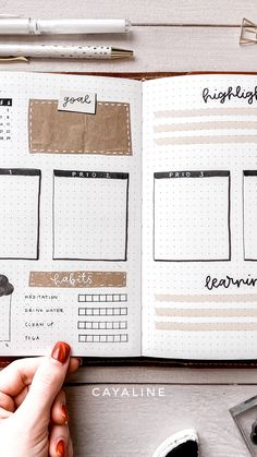 Pin by Cayaline I Bujo & Selbstorganisation on My Bullet Journal Bullet Journal Quote Page, Bullet Journal Weekly Spread, Bullet Journal Hand Lettering, Bullet Journal Notebook, Bullet Journal Aesthetic, Bullet Journal School, Bullet Journal Inspo, Bullet Journal Ideas Pages, Bullet Journal Layout