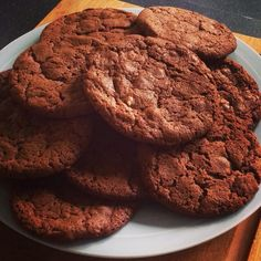 Double choc cookies using Mary Berry recipe
