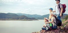 Happy family standing near the lake. by altanaka. Happy family standing near the lake at the day time. Concept of friendly family. Canada National Parks, Big Country, Travel Alone, Walking In Nature, Cool Places To Visit, Family Travel, Adventure Travel, Tours, Walks