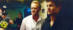 NPH and David Burtka from A Very Harold and Kumar Christmas - animated animated GIF David Burtka, Neil Patrick Harris, Rainbow Family, Under The Rainbow, Queer As Folk, Best Kisses, Childhood Movies, Will And Grace, The New Normal
