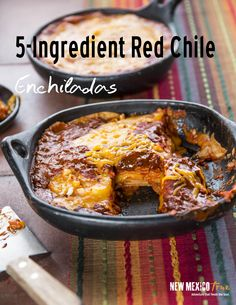These 5-ingredient stacked red enchiladas will become a staple in your kitchen. You can serve them as a side with meat or, they are hearty enough to stand on their own with a simple salad or calabactias. They also make a great addition to breakfast; just serve with some poached or scrambled eggs!