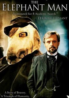 The Elephant Man (1980) In this Oscar-nominated drama based on a true story, physically abnormal John Merrick (John Hurt) endures ostracizing, taunting behavior as a sideshow attraction in mid-19th century England. Despite his horribly disfigured face and body and barely perceptible speech, concerned doctor Frederick Treves (Sir Anthony Hopkins) recognizes Merrick to be highly intelligent and works to save the Elephant Man's dignity. Directed by David Lynch.