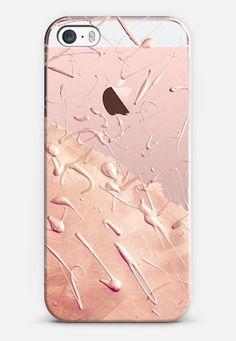 Pastel Rose Gold Rain (transparent) iPhone SE case by Lisa Argyropoulos | Casetify