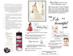 mary kay bridal flyers | your wedding beautiful pampering the bride and bridal party in the ...