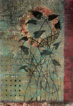 """Growing in Grace"" monotype on paper by Anne Moore"