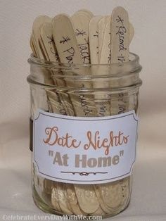 Great bridal shower idea: Write down a date night idea for the happy couple by lisamwood8