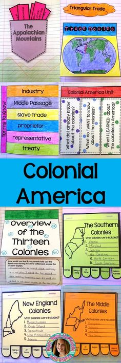 This Colonial America interactive notebook is the perfect hands-on learning experience for your students during your teaching unit. It works great for 3rd-8th grades. Students also make mini-file books for the New England Colonies, the Middle Colonies, and the Southern Colonies. Interactive notebooks serve as a wonderful teaching tool and study guide. Templates, template instructions, and samples of completed templates are included.