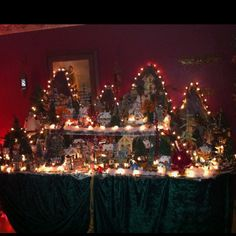 My moms Christmas village