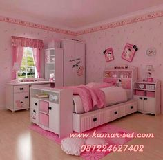 Bedroom Design, Excellent Little Girl Room Decor Furnitures In Preteen Girls Bedroom With Purple Scheme Also Single Sized Bed And Study Desk.