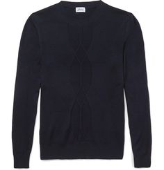 Brioni Ribbed Wool, Cashmere and Silk-Blend Sweater | MR PORTER