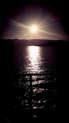 Sunset in Lake Chelan, Wa