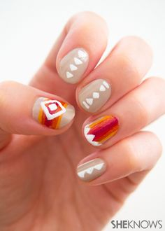 My only attempt at a Native American mani wasn't so great. Maybe try this next time?