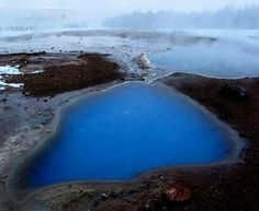 The Geysir thermal area is one of the smallest in Iceland, covering some 3 km² at the surface.  The geothermal system is at the depth of 1 km or more, and the chemistry of the water in the hot springs indicate a subsurface temperature near 240°C.⠀ Geological studies have shown that the formation of the Great Geyser goes back to the final period of the ice age, proving the hot springs being around for over 10000 years.⠀#geothermal #geysir #iceland #icelandtravel #myicelandtravel