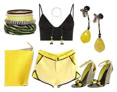 """""""Sunshine"""" by vero1307 ❤ liked on Polyvore featuring T By Alexander Wang, Sergio Rossi, Isabel Marant and Sabrina Zeng"""