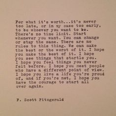 f scott fitzgerald quotes i hope you live a life - Yahoo Image Search Results The Words, Cool Words, F Scott Fitzgerald, Great Quotes, Quotes To Live By, Inspirational Quotes, Meaningful Quotes, Pretty Words, Beautiful Words