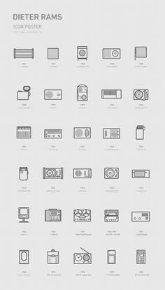 Braun Design + Dieter Rams u. + Industrial Design Braun x Dieter Rams icon on Behance One thing th Web Design, Page Design, Icon Design, Minimalist Graphic Design, Graphic Design Posters, Dieter Rams Design, Braun Dieter Rams, Catalog Design, Design Language