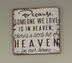 Beautiful. I would love this in my home, to remind my little ones that they have a grandma in heaven.