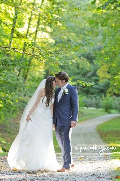 Just married at Hawkesdene, destination wedding venue in the North Carolina mountains.