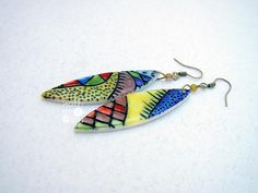Lovely vibrant and colorful earrings made of by ArtStudioKatherine, $20.00