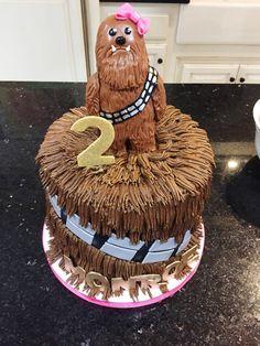 a girly star wars birthday chewbacca cake Star Wars Cake, Star Wars Party, 2nd Birthday Parties, Baby Birthday, Birthday Ideas, Biscuit Cupcakes, Cupcake Cakes, Aniversario Star Wars, Christmas Biscuits