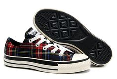 Converse All Star Overseas Scotland Low Top Plaid Canvas Shoes