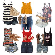 Jean shorts, a tank, and some sandals.... so many ways to rock it this summer.