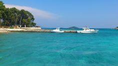 Blue blue waters of Otok Badija
