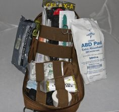 What Goes Into a Survival First Aid Kit? Survival First Aid Kit, Survival Prepping, Survival Gear, Emergency Preparedness, Survival Backpack, Doomsday Prepping, Emergency Care, Emergency Preparation, Emergency Medicine