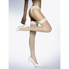 NEW / NEU / Wolford Indyvidual 10 Stockings Hosiery / Medium white