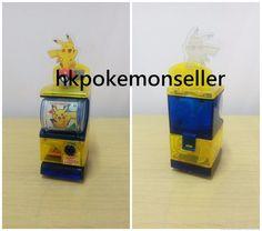TOMY Pokemon SUN & MOON Mini Vending Machine Gashapon Pikachu ver #TOMY