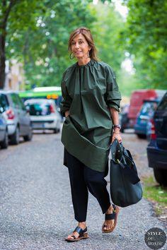 Milan Men's SS 2017 Street Style: Consuelo Castiglioni http://fancytemplestore.com