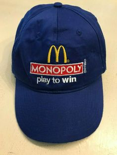 211dcfdcd9b McDonalds Golden Arches Monopoly Play Adjustable Baseball Cap Hat   McDonalds  BaseballCap