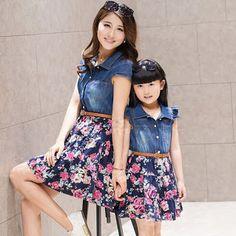 Conjunto de saia e blusa tal mãe tal filha.. | Clothes Family