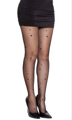 NYFASHION101 Sexy Pattern Sheer Black Pantyhose - See more tights at www.fashion-tights.net #tights #pantyhose #hosiery #nylons #fashion #legs #legwear #advertising #influencer #collants