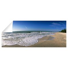 Ocean Waves on Beach Sanibel Island FL by Panoramic Images - CafePress Panoramic Images, Free Interior Design, Sanibel Island, Design Consultant, Beach Pictures, Ocean Waves, Wall Sticker, Airplane View, Bathroom Ideas