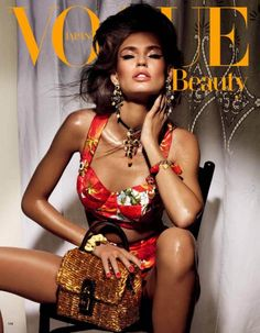 Vogue Japan Beauty with Bianca Balti in Dolce & Gabbana SS2012