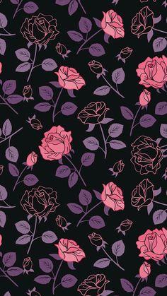 Black and purple wallpaper, purple roses wallpaper, pattern wallpaper iphon Pink And Purple Wallpaper, Trendy Wallpaper, Tumblr Wallpaper, Galaxy Wallpaper, Flower Wallpaper, Screen Wallpaper, Mobile Wallpaper, Pattern Wallpaper, Cute Wallpapers