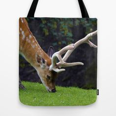 Fallow Deer Tote Bag by Mixed Imagery | Society6