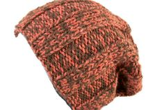 Slouch, Rib Hat, Hand Knitted, Unisex