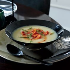 Potato Soup with Spicy Shrimp  #dinner #supper #decadent