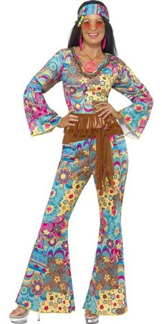1970S Hippie Fashion   Ladies' Hippie Flower Power Costume