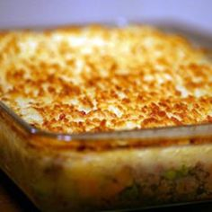 Easy shepherds pie. Pretty authentic to UK recipes...switch to sweet potatoes for a change or mashed cauliflower for low carb version
